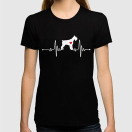 Giant Schnauzer dog heartbeat T-shirt