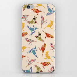 Vintage Wallpaper Birds iPhone Skin