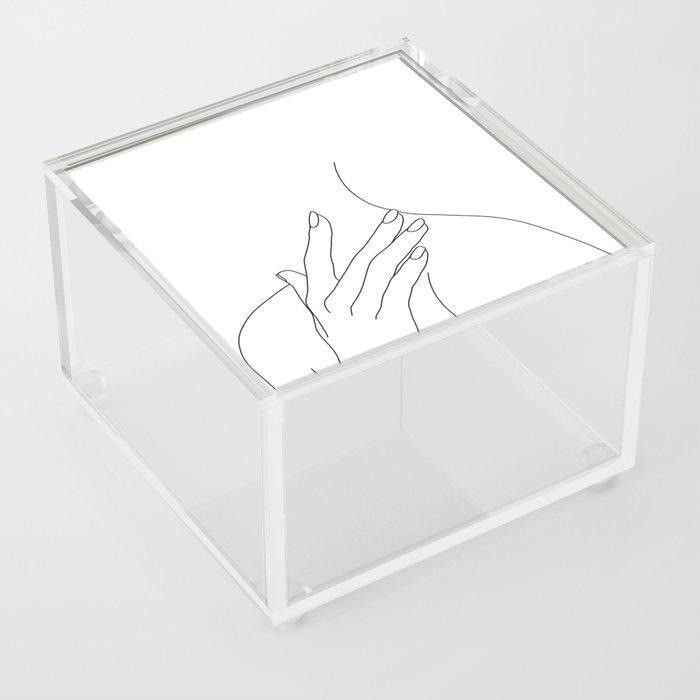 Female body line drawing - Danna Acrylic Box