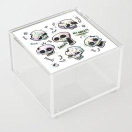 Anxiety Skulls Acrylic Box