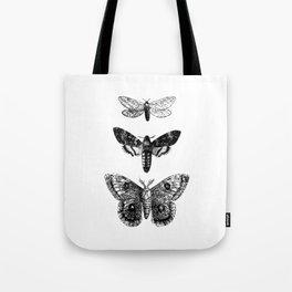 Vintage Butterflies Tote Bag