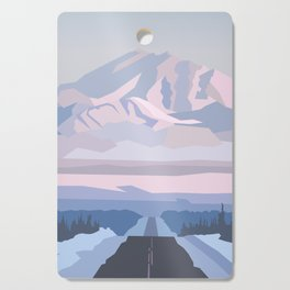 On the way to snowy mountain, minimalism in nature. Cutting Board