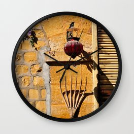 Street life, Rajasthan, India Wall Clock