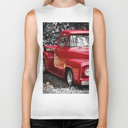 Antique Red Pickup Biker Tank