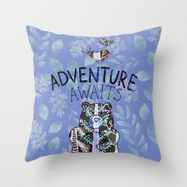 Adventure Awaits - Bagaceous Throw Pillow