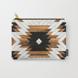 Urban Tribal Pattern 5 - Aztec - Concrete and Wood Carry-All Pouch
