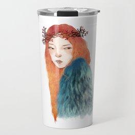 Berries Crown Girl Travel Mug