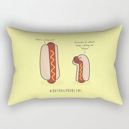 #HotDogProblems Rectangular Pillow