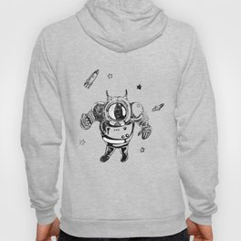 Funny Galaxy Space Black Astronaut Cosmonaut Spaceman Hoody