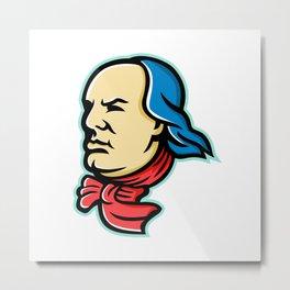 Benjamin Franklin Mascot Metal Print