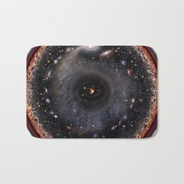 Observable universe logarithmic illustration Bath Mat