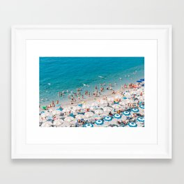 Amalfi Coast Beach Aerial Framed Art Print