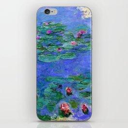 Claue Monet Waterlilies Red iPhone Skin