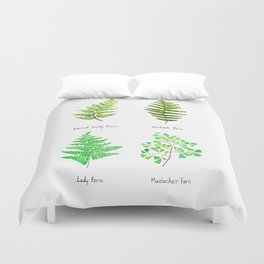 fern collection watercolor Duvet Cover