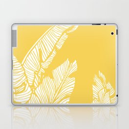 Banana Leaves on Yellow #society6 #decor #buyart Laptop & iPad Skin
