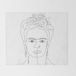 Doña Frida Kahlo Throw Blanket
