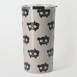 Pitbull Loaf - Black Pit Bull with Floppy Ears Travel Mug