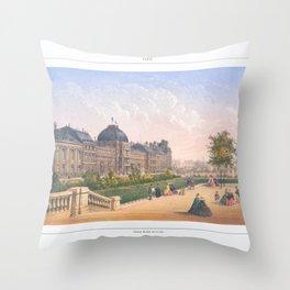 Les tuileries Paris France Throw Pillow