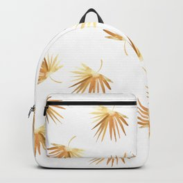 Golden Palm Leaf Backpack