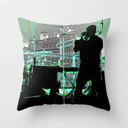 Big Sam (Trombone Man) Throw Pillow
