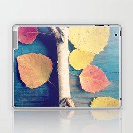 Autumn Birch Leaves and Twigs Laptop & iPad Skin