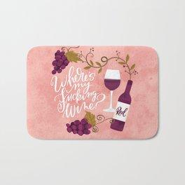 Where's My Fucking Wine? Bath Mat