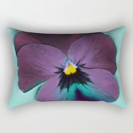 Purple viola tricolor Rectangular Pillow