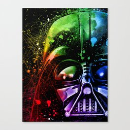 Darth Vader Splash Painting Sci-Fi Fan Art Canvas Print