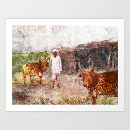 Terela Farmer Art Print