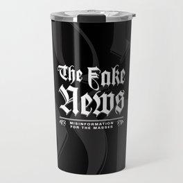The Fake News Header Travel Mug
