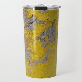 Yellow Peeling Paint on Concrete 1 Travel Mug
