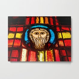 Jesus on stained glass Metal Print