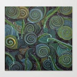 An Escargatoire of Snails Canvas Print