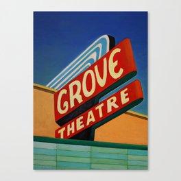 Grove Theater  Canvas Print