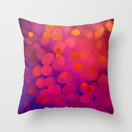 Mulberry Microcosm Throw Pillow