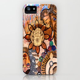 Ganesha Laxmi Blessing iPhone Case