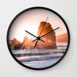 Sea light rock 4 Wall Clock