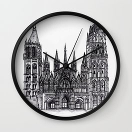 Rouen Cathedral Wall Clock
