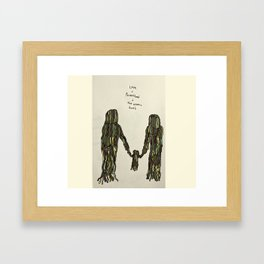 Love, Parenthood, and the Atomic Bomb Framed Art Print