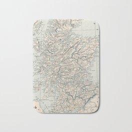 Vintage Map of Scotland (1893) Bath Mat