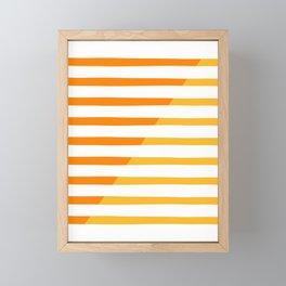 Beach Stripes Orange Yellow Framed Mini Art Print
