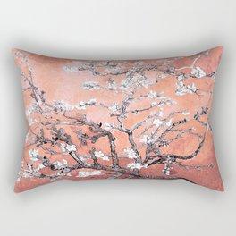 Van Gogh Almond Blossoms : Deep Peach Rectangular Pillow
