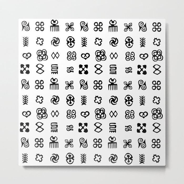 Adinkra Symbols Of West Africa Metal Print By Almdrs Society6