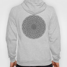 Circle of Life Mandala Black and White Hoody