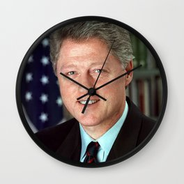 President Bill Clinton Wall Clock