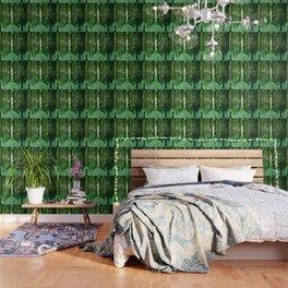 Magical Forest Green Elegance Wallpaper
