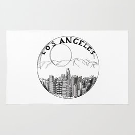 Los Angeles in a glass ball 2  ( https://society6.com/vickonskey/collection ) Rug