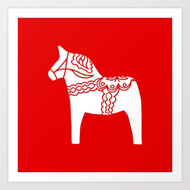 Dala Horse Art Print By Rabsizzle Society6