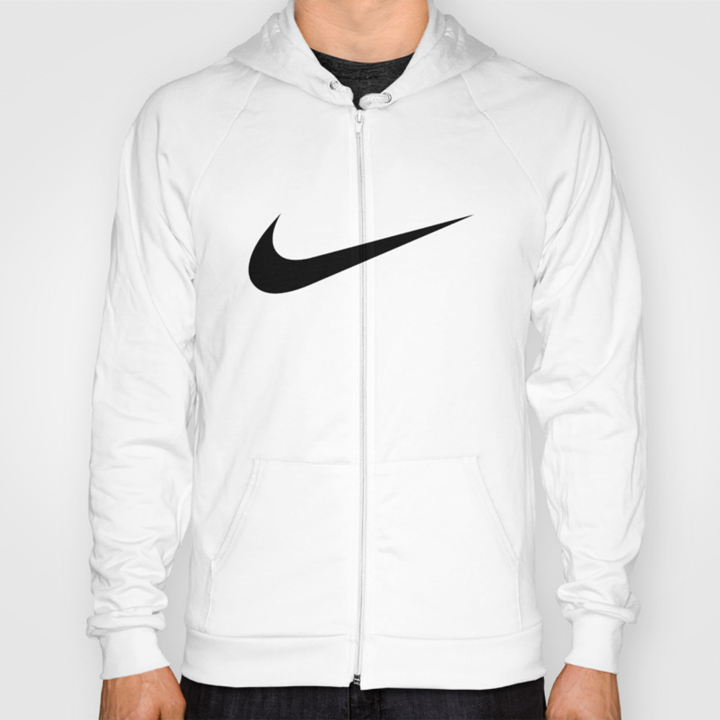 Nike/swoosh Black Hoody by Lasika SSR9056036
