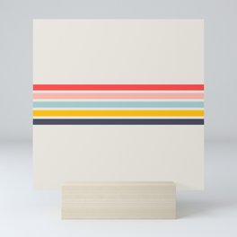 Naomori - Classic Minimal Retro Stripes Mini Art Print
